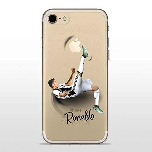 IP7 / IP8 Cover TPU Gel Trasparente Morbida Custodia Protettiva, Soccer Collection, CR7 Juve, iPhone 7, iPhone 8