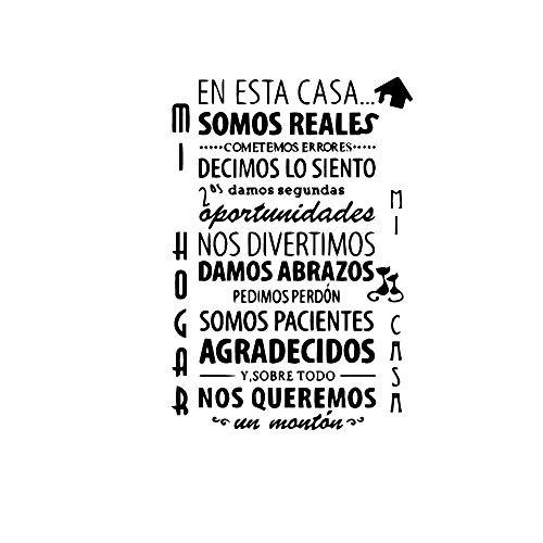 Papel pintado autoadhesivo de vinilo con texto en español de bricolaje para decoración de habitaciones de niños calcomanías de vinilo-XL los 57cm los X 83cm