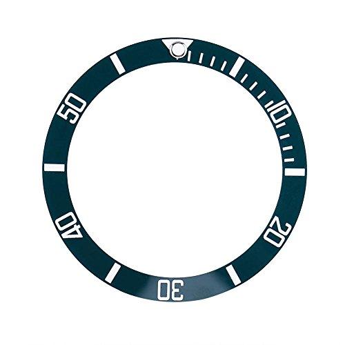 Dilwe 4 Farben Keramik Uhr Armbanduhr Lünette Einsatz Schleife ersatzteile(Grün)