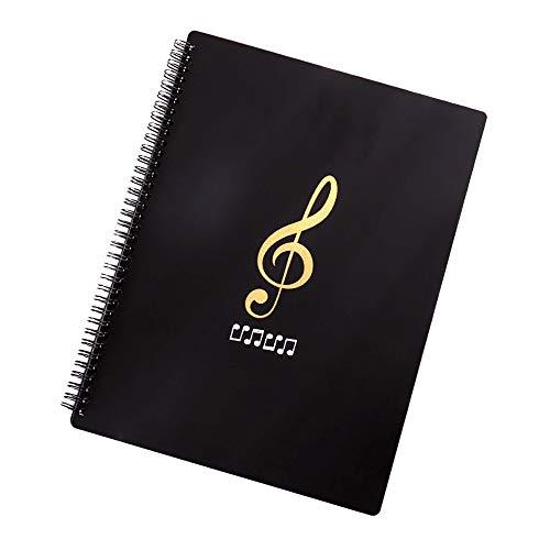 JIUZHI 1 pz Cartella Portaspartiti File di Fogli per Musica Documenti Portaducumenti Cartella per Musicisti Scrittura Lettera Formato A4 40 Pagine con