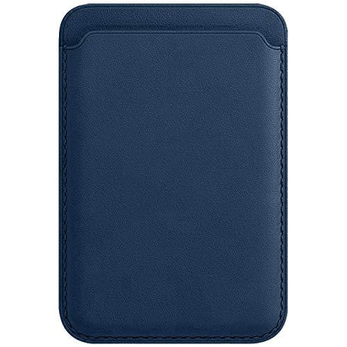 kkkie Funda para tarjetas de crédito y dinero en efectivo, para Apple iPhone 12 Mini/iPhone 12/12pro /12 pro max Slim Wallet Smartphone Tarjetero para pegar ID Card Holder (Azul)