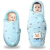 Nisleep Baby Swaddle Wrap Blanket for Newborn and Infant (Blue)