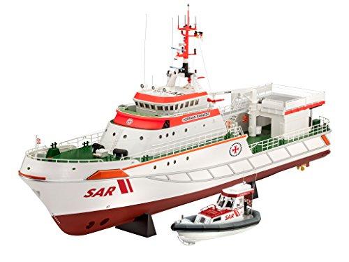 Revell Modellbausatz Schiff 1:72 - Seenotrettungskreuzer HERMANN MARWEDE im Maßstab 1:72, Level 5, originalgetreue Nachbildung mit vielen Details, 05220