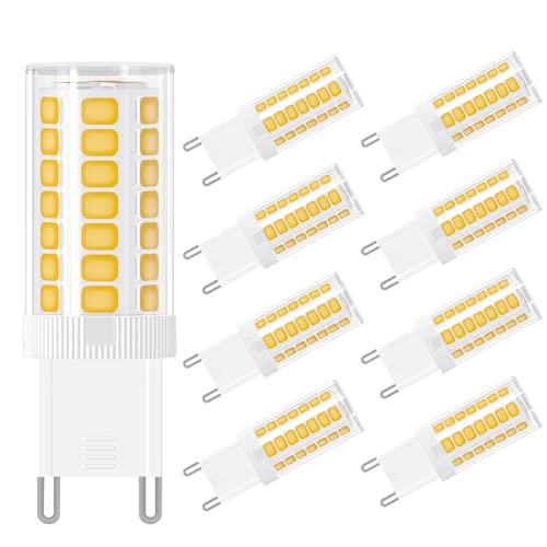 【8er Pack】G9 LED, Hepside 3W G9 LED Warmweiß 3000K, 300 Lumen LED Lampe G9 360 Grad Winkel G9 Leuchtmittel Ersatz 40W G9 Halogenlampe, AC 220-240V, Nicht Dimmbar, 45LED CRI> 85, für Wohnzimmer, Küche