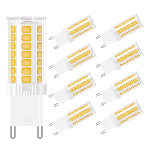 8 Pezzi Lampadina g9 led luce bianca calda,3W,equivalente a lampada alogena 30W,Hepside G9 Lampadine LED 300lm 3000k CRI85, Angolo di Fascio di 360 °, Nessun Sfarfallio Non Dimmerabile