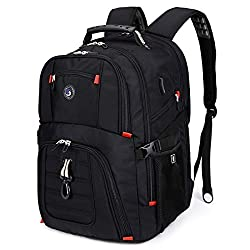 top 10 very large backpack Robust 50 liter travel backpack with USB charging port for 17 inch laptops