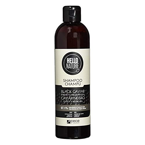 Hello Nature Black Caviar Champú Fortalecedor y Nutritivo - 300 ml