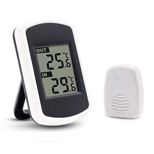 Ulable Digitales Funkthermometer für Innen- und Außentemperaturmessung, LCD, Umgebungstester