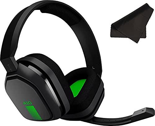 ASTRO Gaming Logitech A10 Headset für Xbox One/Nintendo Switch/PS4/PC und Mac, kabelgebunden, 3,5 mm und Boom-Mikrofon mit Mikrofasertuch – Großpackung – (grün/schwarz)