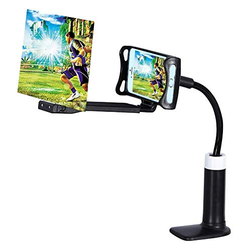 Lazy Mobiele Telefoonhouder Zuignap Telefoon Hoge Definitie Projectie Beugel Verstelbare Flexibele Houder Black 12 inch