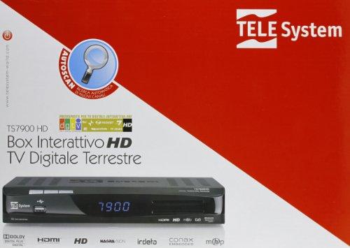 Telesystem Ts-7900 Decoder Hd Doppia Card Nero