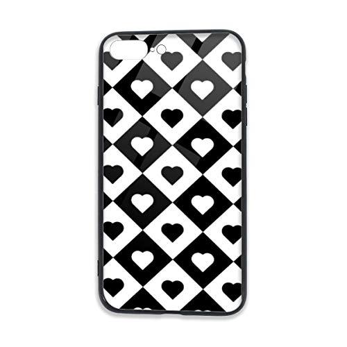 ZARLAY Pokar-Spielkarten Herzen in Rhombus-Handyhüllen für iPhone 7/8 Plus / 8 Plus-Handy für iPhone 7P / 8P Mobile Shell Cover Case