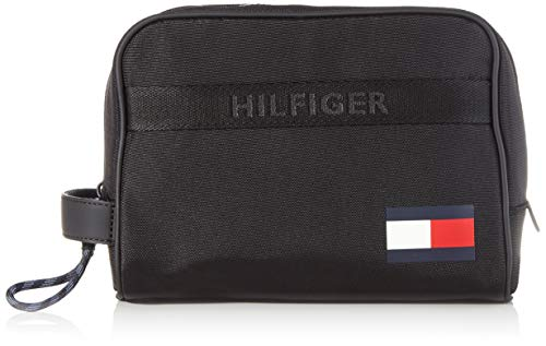 Tommy Hilfiger Men's Tommy WASHBAG Small Leather Goods, Black, One Size