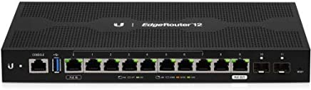 $243 Get Ubiquiti Networks EdgeRouter 12, 10-Port Gigabit Router with PoE Passthrough and 2 SFP Ports (ER-12)