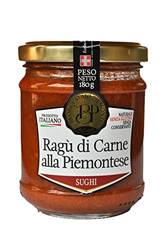 Ragù di carne alla Piemontese, condimento a base di carne bovina, 180 gr