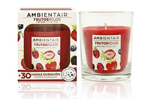 Ambientair Cera Natural aromática Fragancia Frutos Rojos. Vela perfum