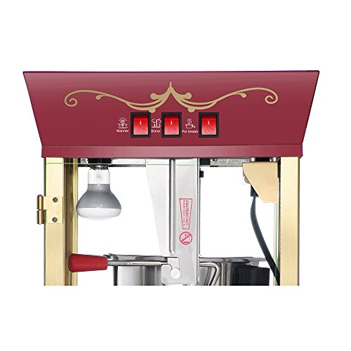 Product Image 2: Great Northern Popcorn Red Matinee Movie 8 oz. Ounce Antique Popcorn Machine and Cart