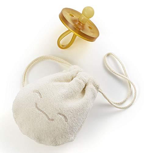 ✪ Natursutten PaciPouch Schnullertäschchen | 100% Bio Baumwolle | Schnullerbox | Für einen sauberen Schnuller unterwegs | waschbar