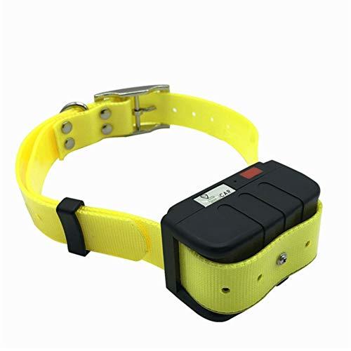 Pantalla de calefacción por mascotas Gps Rastreador perro perro en tiempo real de seguimiento impermeable collar de perro de localización GPS for perros Aplicación gratuita ( Color : Yellow Collar )