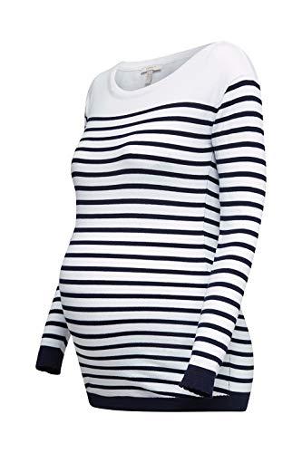 ESPRIT Maternity Damen Sweater ls yd Umstandspullover, Mehrfarbig (White 100), 38 (Herstellergröße: M)