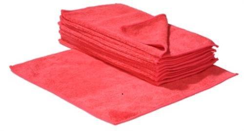 SBS Schlößer Baustoffe - 10 panni in microfibra, 30 x 30 cm, colore rosso