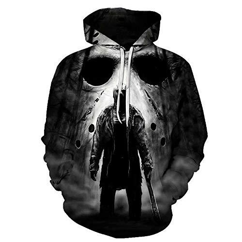 Jason Voorhees Costume Halloween Horror Movie Michael Myers Cosplay Hoodie 3D Jacket Pullover Sweatshirt
