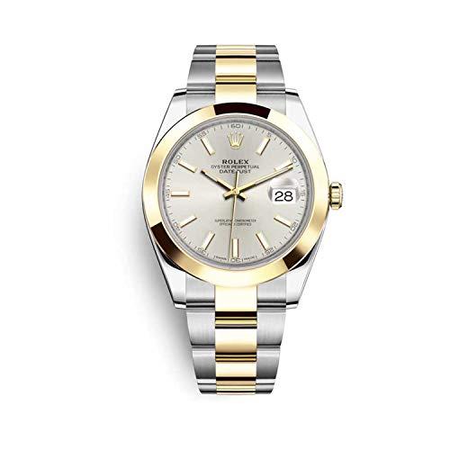 Rolex Datejust 41 126303 quadrante argento oro & cassa in acciaio & Oyster bracciale orologio da uomo