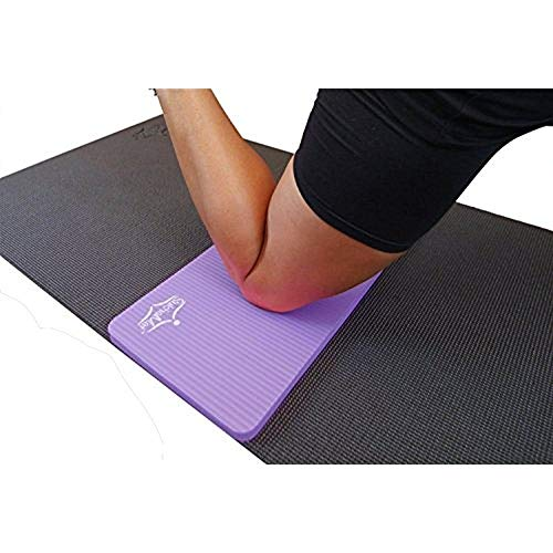 """SukhaMat Yoga Knee Pad - New! 15mm (5/8"""") Thick - The Best Yoga Knee pad for a Pain Free Practice. Cushions Pressure Points. Complements Your Full-Size Yoga mat. (Purple)"""
