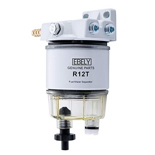 R12T Fuel Filter/Water Separator Marine Fuel Filter Spin- on Racor 3/8 Fuel Filter 120AT NPT ZG1/4-19 fit Gasoline Engine and Diesel Engine