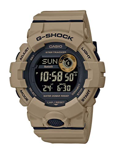 CASIO Herren Digital Quarz Uhr mit Resin Armband GBD-800UC-5ER