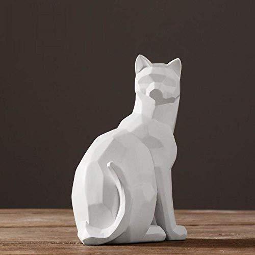 Esculturas Estatuas Adornos Estatuilla Figuras coleccionables Esculturas de Cabeza Escultura de Gato de Origami Estatua de Artes de Animales Abstractos Artesanías de Resina Adornos Arte Diseño de INT