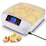 ZCXBHD 56 Incubatrice di Uova Automatico Girando Cova Temperatura Controllo Digitale Hatcher di Pollame con Luce for Pollo Quaglia Anatra Uccelli