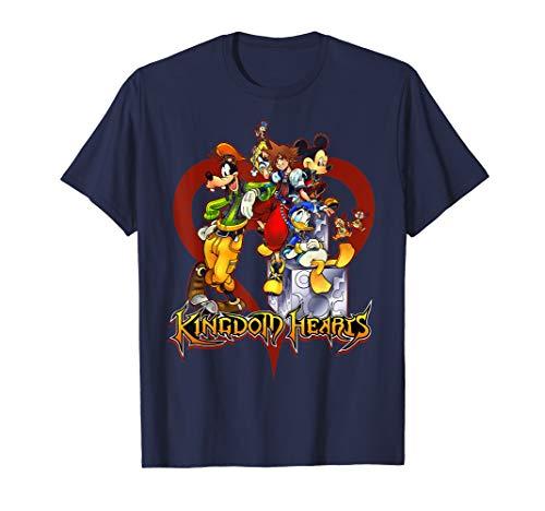 Disney Kingdom Hearts Group Heart T-shirt