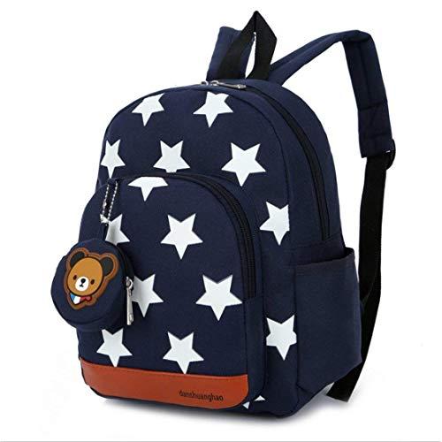 X-Labor Stern Kinder Babyrucksack ab 1 Jahr Minirucksack Kindergartenrucksack Schuletasche für Jungen Mädchen Kleinkinder Backpack dunkelblau