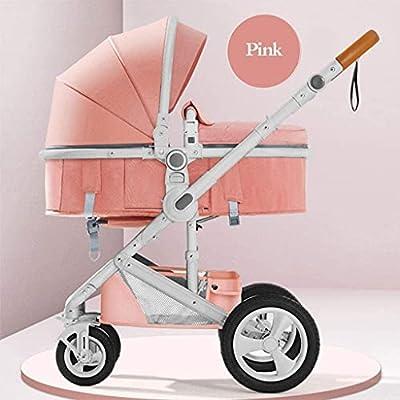 Cochecito liviano portátil del cochecito de cochecito liviano, plegable y plegable tipo cochecito de bebé, adecuado para niños de 0 a 3 años en todas las temporadas Baby shotchair (Color : Pink)