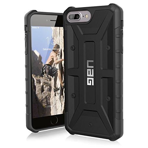 Urban Armor Gear Pathfinder Schutzhülle nach US-Militärstandard für Apple iPhone 8 Plus/7 Plus/6S Plus/6 Plus-schwarz [Verstärkte Ecken | Sturzfest | Antistatisch | Vergrößerte Tasten] -IPH8/7PLS-A-BK