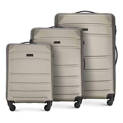 WITTCHEN Koffer – Set of 3 | hartschalen, Material: ABS | hochwertiger und Stabiler | Champagner | Verschiedene Größen