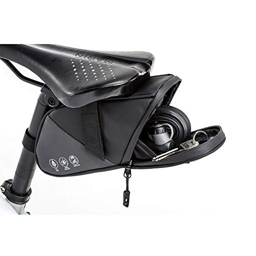 CXQWAN Sac de Selle de vélo réfléchissant, en imperméable Seat Pack vélo Outils Accessoires Pochette de Rangement vélo Sac Wedge