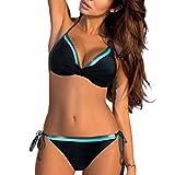 Remise Femme Maillots de Bain Brésilien Sexy Bikini Push Up Bandeau Maillot de Bain Girl 2 Pièces Soutien-Gorge avec Short Multicouleur Swimwear Maillot de Natation