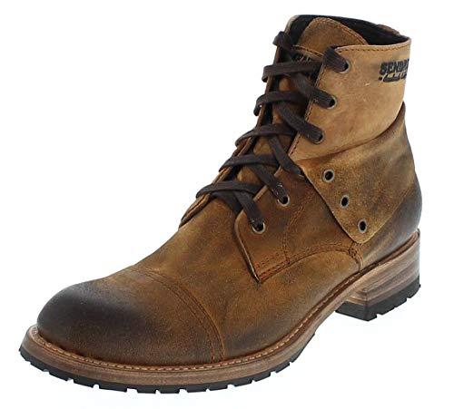 Sendra Boots Herren Chukka Boots 11934 Bernie Camello Schnürstiefel Urban Boot Lederstiefel Braun 42 EU