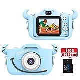 Wurkkos Caméra Numérique pour Enfants, Camera 12,0MP avec Coque en Silicone pour Fille ou garçon de 3 à 10 Ans, idéal pour Un...