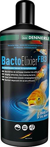 Dennerle Bacto Elixier FB3 - Hochwirksame lebende Reinigungsbakterien - für klares, natürliches Teichwasser (1000 ml)