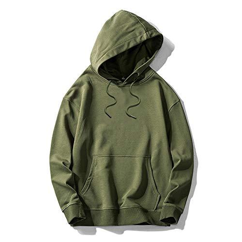 Sudaderas con Capucha, Sudadera para Hombre de Manga Larga Casual Abrigo Camisas BlusaCamisa Casual Fina con Capucha-Verde_M