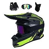 Motocross Helm Set (Brille/Handschuhe/Maske)...