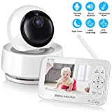 Vancle Video Baby Monitor with Camera and Audio, 5″ Screen HD 720P, Night