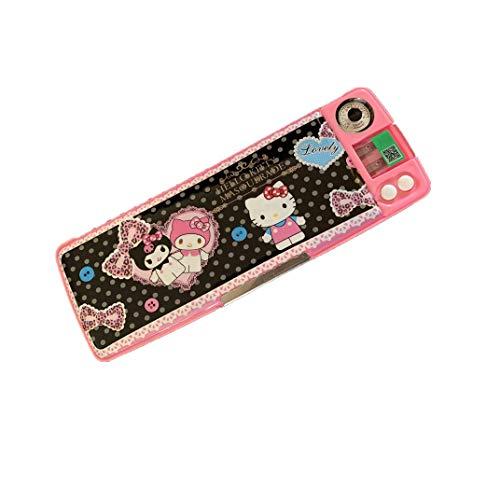 Hello Kitty Pencil Case Sharpener+Pencil Caps Multi-Functional Pen Box Colorful Cartoon Stationery (1)