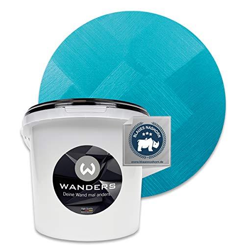 Wanders24® Tafelfarbe Metallic-Türkis (3 Liter) Blackboard Paint - Tafellack - abwischbare Wandfarbe - in 5 Farbtönen erhältlich - Made in Germany