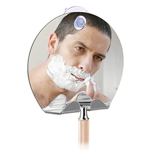 Mirror Shower Mirror AntiFog Shower Mirror with Razor Hook Shatterproof Shower Mirrors for Shaving Fogless Round