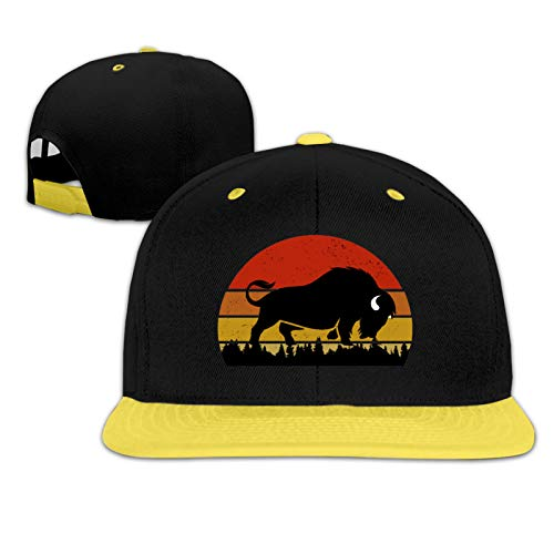Vintage Bison American Buffalo - Gorra de béisbol para niños y niñas - amarillo - talla única