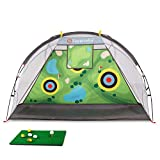 Superrella Golf Hitting Net Training Aids for Backyard Indoor Outdoor Practice Driving Chipping Swing
